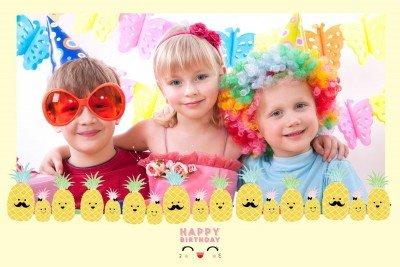Cadre photobooth thème anniversaire enfants