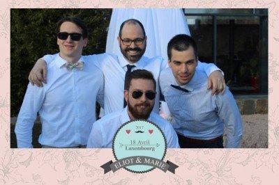 Cadre photobooth de mariage