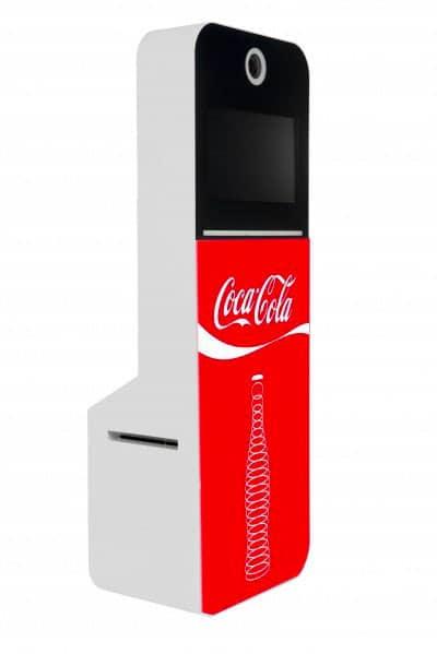 Photobooth au Luxembourg - Habillage Coca Cola